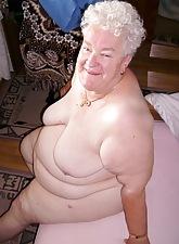 Horrific chubby ancient granny
